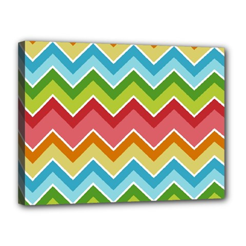 Colorful Background Of Chevrons Zigzag Pattern Canvas 16  X 12  by Amaryn4rt