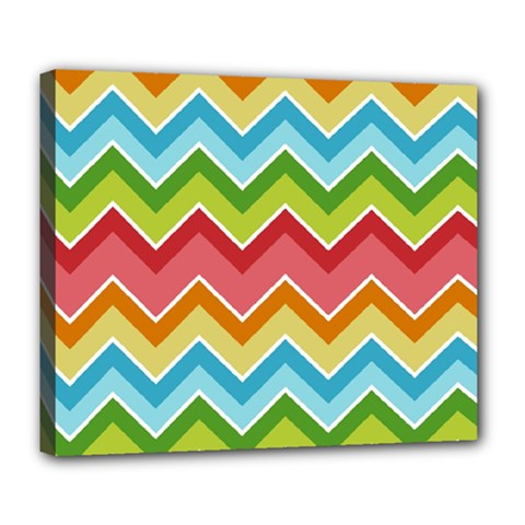Colorful Background Of Chevrons Zigzag Pattern Deluxe Canvas 24  X 20   by Amaryn4rt