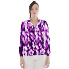 Bokeh Background In Purple Color Wind Breaker (women) by Amaryn4rt