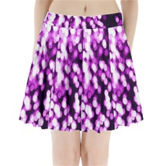 Bokeh Background In Purple Color Pleated Mini Skirt by Amaryn4rt