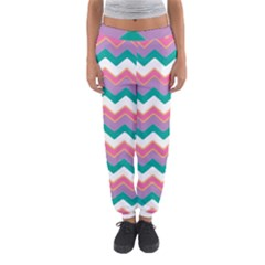 Chevron Pattern Colorful Art Women s Jogger Sweatpants by Amaryn4rt
