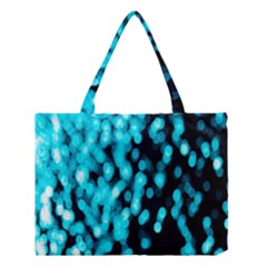 Bokeh Background In Blue Color Medium Tote Bag by Amaryn4rt