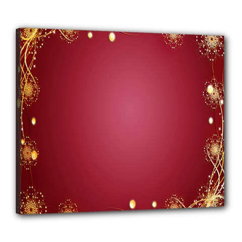 Red Background With A Pattern Canvas 24  X 20  by Amaryn4rt