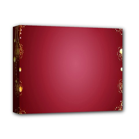 Red Background With A Pattern Deluxe Canvas 14  X 11  by Amaryn4rt