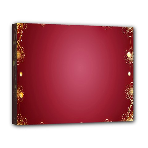 Red Background With A Pattern Deluxe Canvas 20  X 16   by Amaryn4rt