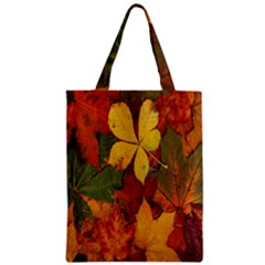 Colorful Autumn Leaves Leaf Background Zipper Classic Tote Bag by Amaryn4rt