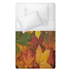 Colorful Autumn Leaves Leaf Background Duvet Cover (single Size) by Amaryn4rt