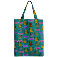 Meow Cat Pattern Zipper Classic Tote Bag by Amaryn4rt
