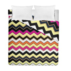 Colorful Chevron Pattern Stripes Duvet Cover Double Side (full/ Double Size) by Amaryn4rt