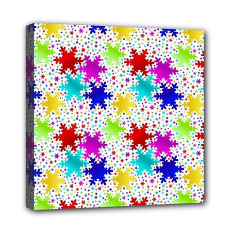 Snowflake Pattern Repeated Mini Canvas 8  X 8  by Amaryn4rt