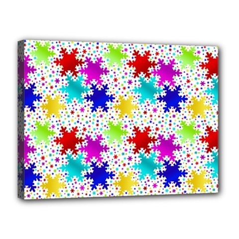 Snowflake Pattern Repeated Canvas 16  X 12
