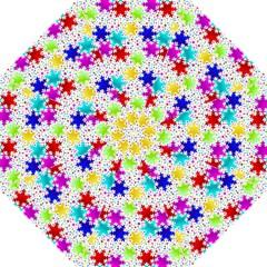 Snowflake Pattern Repeated Hook Handle Umbrellas (medium) by Amaryn4rt
