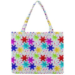 Snowflake Pattern Repeated Mini Tote Bag by Amaryn4rt