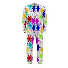 Snowflake Pattern Repeated Onepiece Jumpsuit (kids)