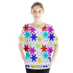 Snowflake Pattern Repeated Blouse by Amaryn4rt