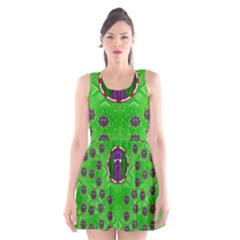 Smoking Hot Cartoon Lady Scoop Neck Skater Dress by pepitasart