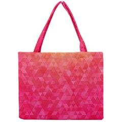 Abstract Red Octagon Polygonal Texture Mini Tote Bag by TastefulDesigns