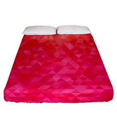 Abstract Red Octagon Polygonal Texture Fitted Sheet (california King Size) by TastefulDesigns