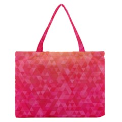 Abstract Red Octagon Polygonal Texture Medium Zipper Tote Bag by TastefulDesigns