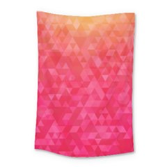 Abstract Red Octagon Polygonal Texture Small Tapestry by TastefulDesigns