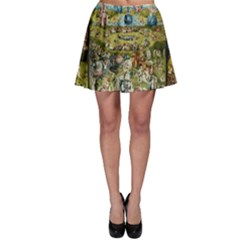 Hieronymus Bosch Garden Of Earthly Delights Skater Skirt by MasterpiecesOfArt