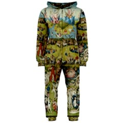 Hieronymus Bosch Garden Of Earthly Delights Hooded Jumpsuit (ladies)  by MasterpiecesOfArt