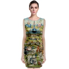 Hieronymus Bosch Garden Of Earthly Delights Classic Sleeveless Midi Dress by MasterpiecesOfArt