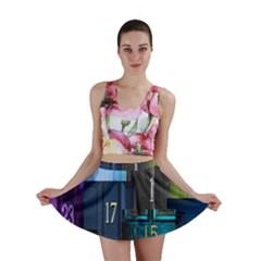 Door Number Pattern Mini Skirt by Amaryn4rt