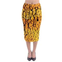 Yellow Chevron Zigzag Pattern Midi Pencil Skirt by Amaryn4rt