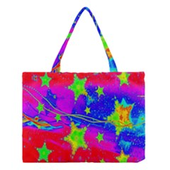Red Background With A Stars Medium Tote Bag by Amaryn4rt