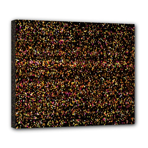 Colorful And Glowing Pixelated Pattern Deluxe Canvas 24  X 20   by Amaryn4rt