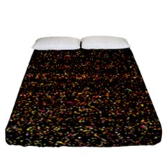 Colorful And Glowing Pixelated Pattern Fitted Sheet (california King Size) by Amaryn4rt