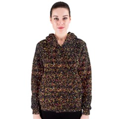 Colorful And Glowing Pixelated Pattern Women s Zipper Hoodie by Amaryn4rt