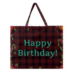 Happy Birthday To You! Zipper Large Tote Bag by Amaryn4rt