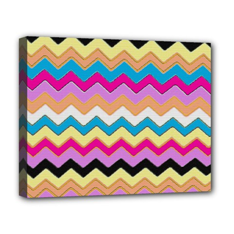 Chevrons Pattern Art Background Deluxe Canvas 20  X 16   by Amaryn4rt