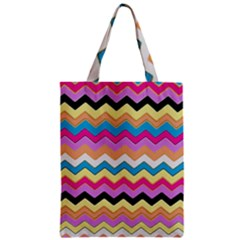 Chevrons Pattern Art Background Zipper Classic Tote Bag by Amaryn4rt