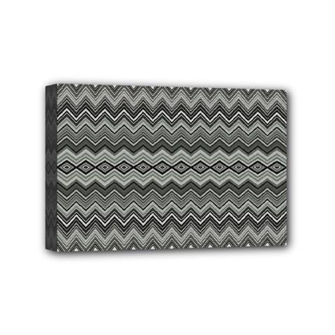 Greyscale Zig Zag Mini Canvas 6  X 4  by Amaryn4rt