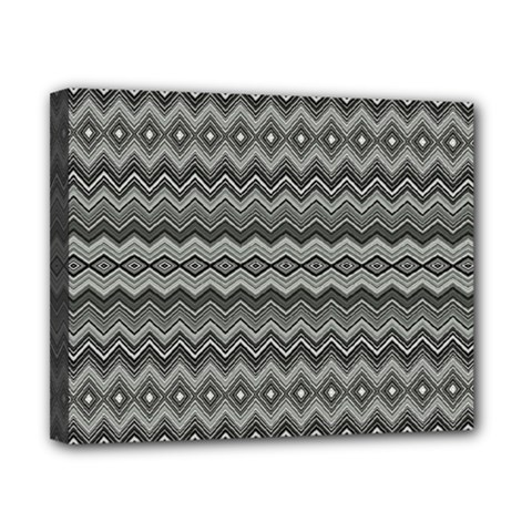 Greyscale Zig Zag Canvas 10  X 8  by Amaryn4rt