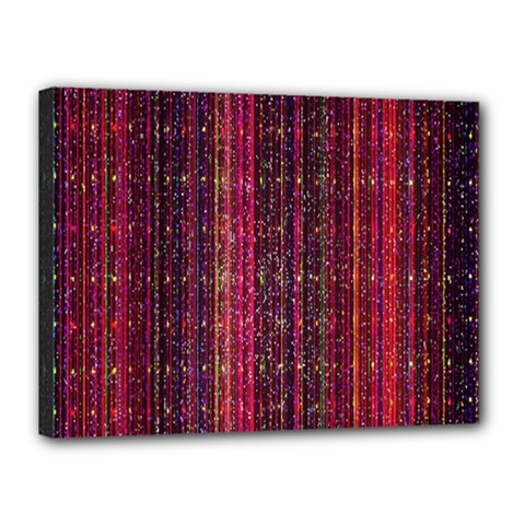 Colorful And Glowing Pixelated Pixel Pattern Canvas 16  X 12  by Amaryn4rt