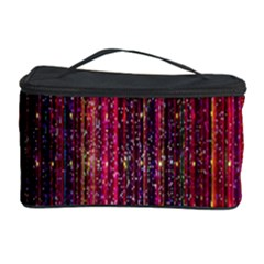 Colorful And Glowing Pixelated Pixel Pattern Cosmetic Storage Case by Amaryn4rt