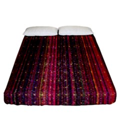 Colorful And Glowing Pixelated Pixel Pattern Fitted Sheet (california King Size) by Amaryn4rt