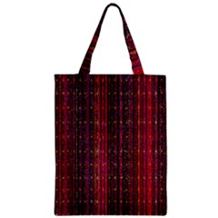Colorful And Glowing Pixelated Pixel Pattern Zipper Classic Tote Bag by Amaryn4rt