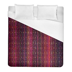 Colorful And Glowing Pixelated Pixel Pattern Duvet Cover (full/ Double Size) by Amaryn4rt