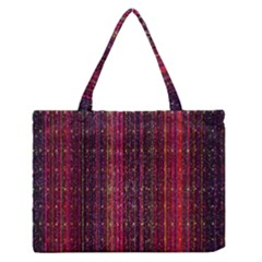 Colorful And Glowing Pixelated Pixel Pattern Medium Zipper Tote Bag by Amaryn4rt