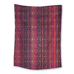 Colorful And Glowing Pixelated Pixel Pattern Medium Tapestry by Amaryn4rt