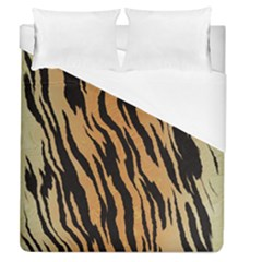 Tiger Animal Print A Completely Seamless Tile Able Background Design Pattern Duvet Cover (queen Size) by Amaryn4rt