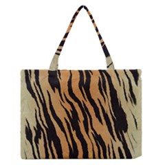 Tiger Animal Print A Completely Seamless Tile Able Background Design Pattern Medium Zipper Tote Bag by Amaryn4rt