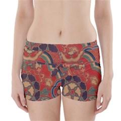 Vintage Chinese Brocade Boyleg Bikini Wrap Bottoms