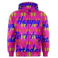 Happy Birthday! Men s Zipper Hoodie by Amaryn4rt