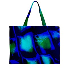 Blue Scales Pattern Background Zipper Mini Tote Bag by Amaryn4rt